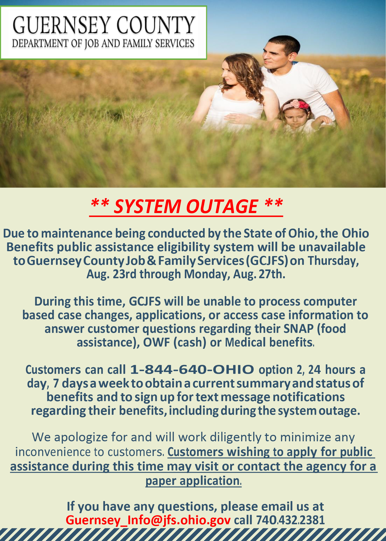 System Outage Alert Guernsey County